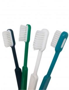 Brosse à dents rechargeable en bioplastique - 2 duretés et 4 couleurs au choix