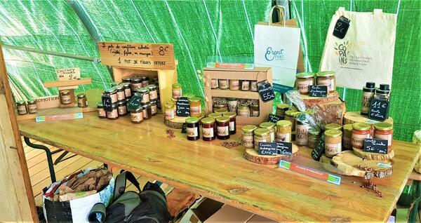 légumes des jardins de porquerolles vendus sur le marché